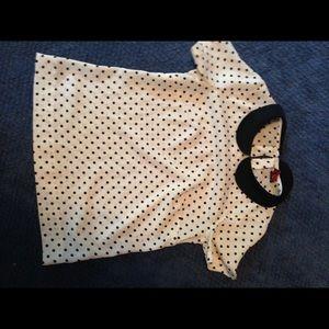 Merona polka dotted collared shirt