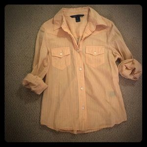 Marc Jacobs Tops - Marc Jacobs button down pale peach/orange