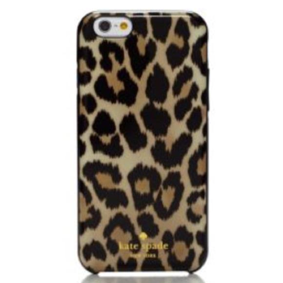 buy popular b4616 431fa New In Box Kate Spade Leopard Print IPhone 6 case! NWT