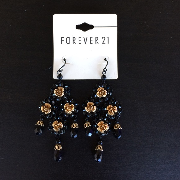 17 off forever 21 jewelry black and gold statement for Forever 21 jewelry earrings