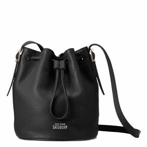 kate spade Handbags - SOLD Kate Spade Saturday Black Leather Bucket Bag
