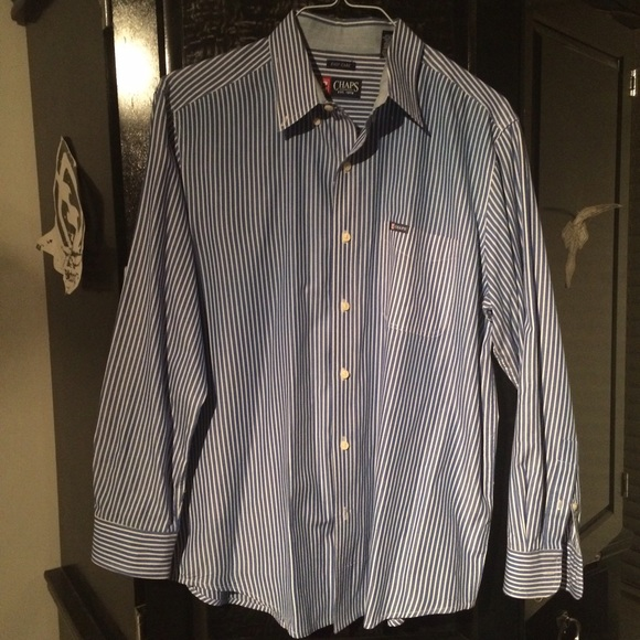 45 off chaps other long sleeve men 39 s button down shirt for Chaps button down shirts