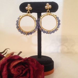Beautiful handmade semiprecious & pearl earrings