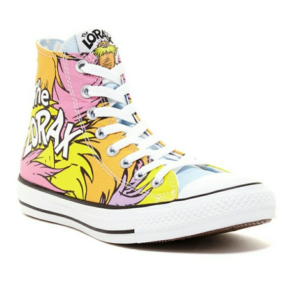 0a31d6733 MENS WOMENS UNISEX CONVERSE DR. SEUSS THE LORAX
