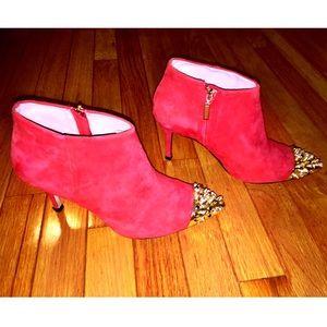 Zara Shoes - Red Suede ZARA booties