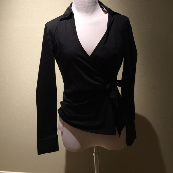 59 off express tops express wrap tie black shirt from for Express shirt and tie