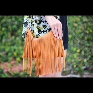 Handbags - Fringe Brown Purse Bag