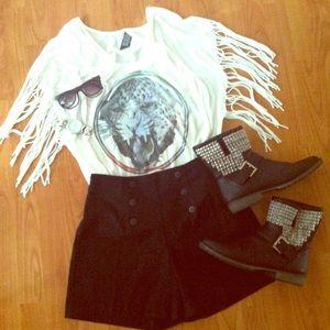 Vintage Black High Waist Shorts