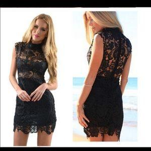 Dresses & Skirts - 🔴SOLD🔴 Little Black Lace Crochet dress LBD small