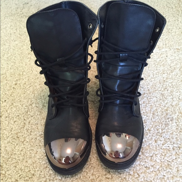 51% off Forever 21 Shoes - Fake steel toe combat boots from ...