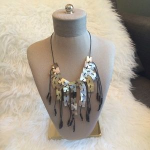 Bohemian Tribal Geometric Bib Shell Necklace