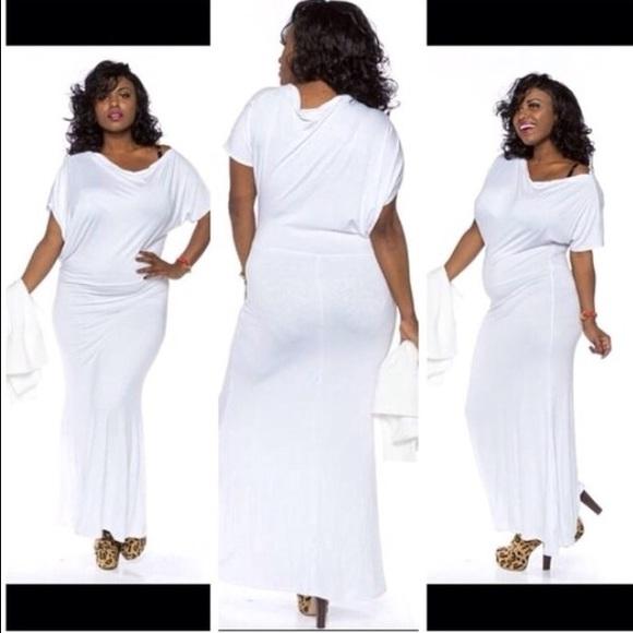 All white plus sassy yet classy size 1X 2X 3X