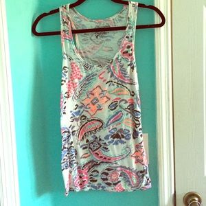 American Eagle neon color tank