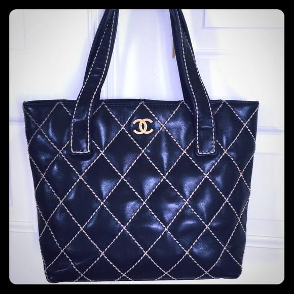 bc2a8c7f91d0 CHANEL Handbags - Authentic lamb skin surpique CHANEL Tote bag SALE