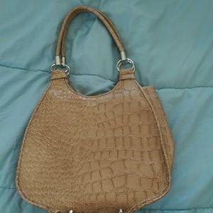 Gold faux snake skin (print) purse