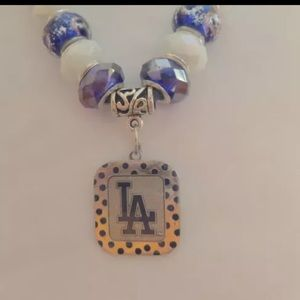 Los Angeles Dodgers European Charm Necklace