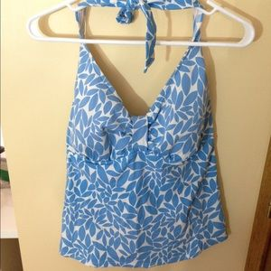blue and white like new lands end TANKINI top