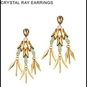 J crew crystal ray earrings