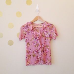 Tops - Beautiful Floral Pattern Shirt