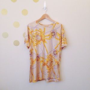 Tops - Gold Cord and Chain Shirt