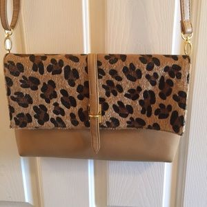 Leopard envelope clutch.