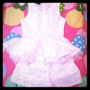 White princess top and shorts