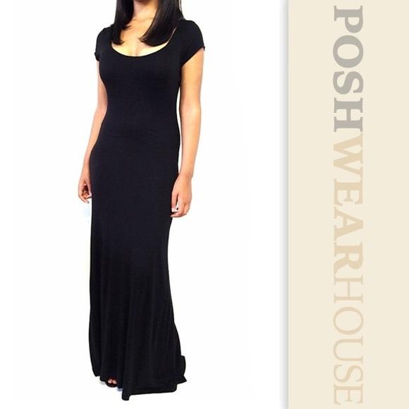 b3f2a1e6dd1 VELVET TORCH Black Long Tee Fit   Flare Maxi Dress