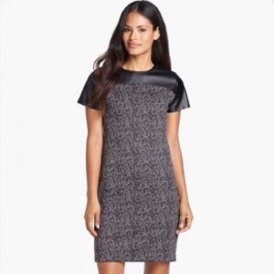 MICHAEL Michael Kors Dresses & Skirts - Michael kors brown dress with leather neckline