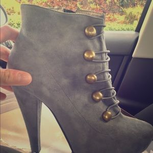 Jeffrey Campbell Sgt Pepper Ankle Booties Gray