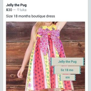 Jelly the Pug Other - Jelly the Pug Child's dress