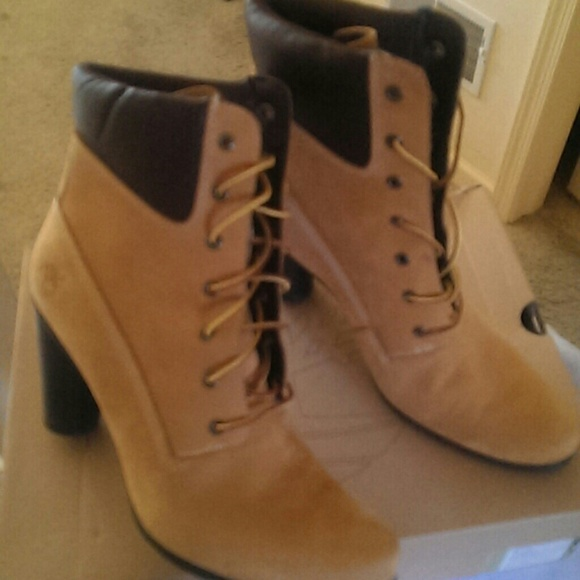 timberland boots with high heels