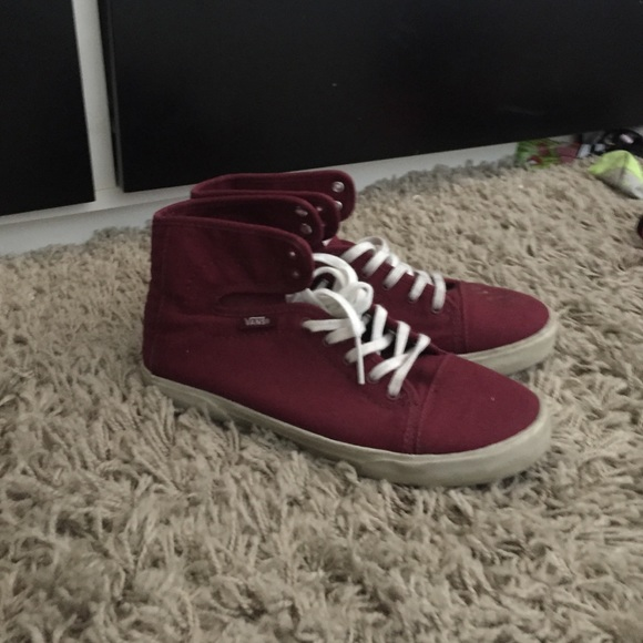 ba932bcef762 Buy maroon van high tops   OFF76% Discounts