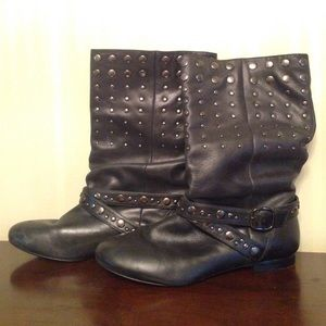 Leather, studded, Aldo boots. OFFERS ACCEPTED