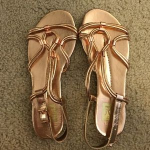 Rose Gold Dolce Vita Sandals