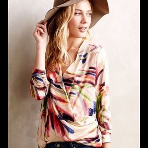 Draped Printed Top