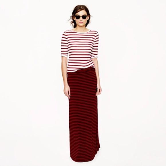 642327e3dc J. Crew Skirts | J Crew Stripe Jersey Maxi Skirt | Poshmark