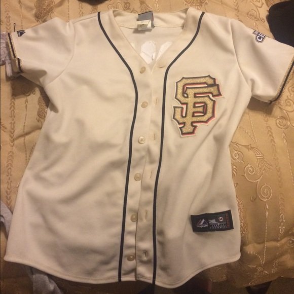 Buster posey SF Giants gold & cream jersey