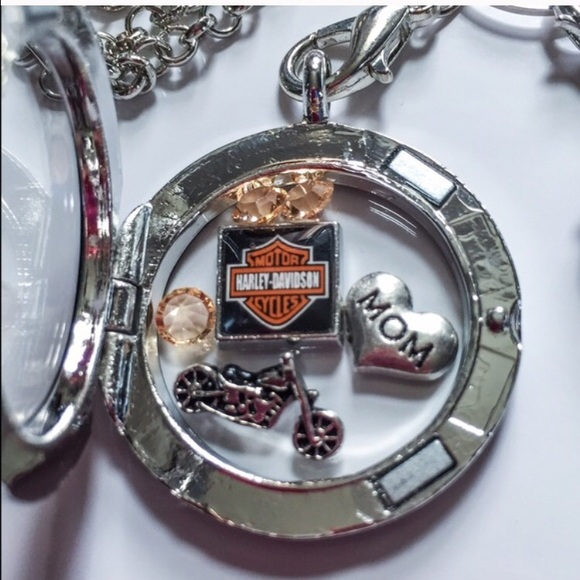 37 off jewelry harley davidson floating locket from