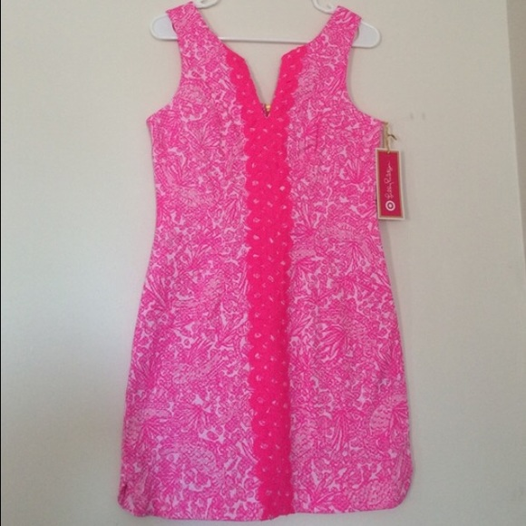 67b27562bc6 Lilly Pulitzer Dresses   Skirts - Lilly Pulitzer for Target Hot Pink Shift  Dress
