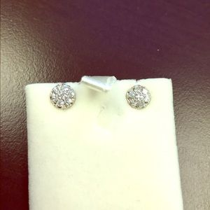 Jewelry - 18k diamond earrings with approx .60cts