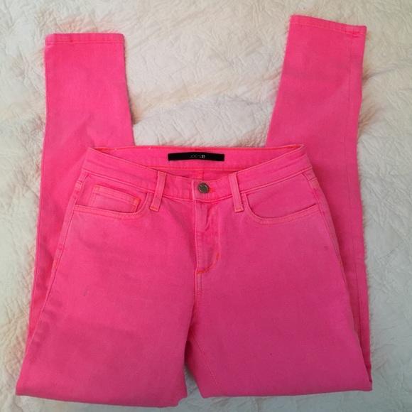 85% off Joe's Jeans Denim - Joe's Hot Pink jeans high rise skinny ...