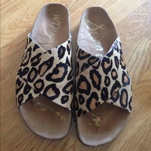 ee80a03155d54 Sam Edelman Shoes - Sam Edelman Leopard Sandals Birkenstock Style.