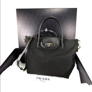 74149e124d Prada Bags - Prada BN2107 Nylon Saffiano Bag Nero