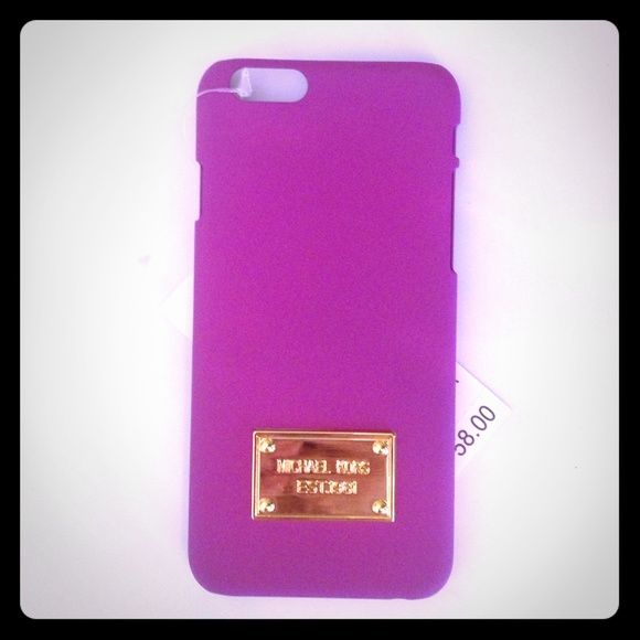a2c8f1930b63 Michael Kors iPhone 6 case   hard cover purple!