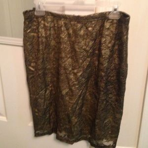 Cecico gold and black skirt.