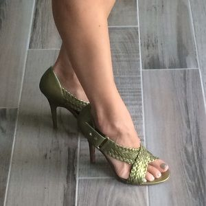 L.A.M.B. Shoes - Green L.A.M.B. Heels