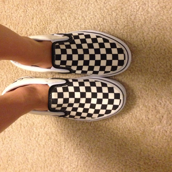 23eccfeed95772 Checkerboard Slip-on Vans. M 557087da729a6654ed01efa4