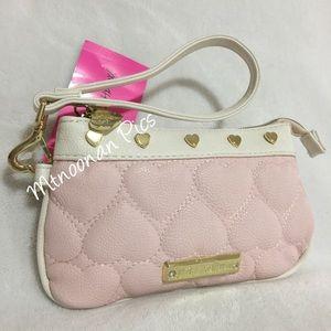 Betsey Johnson Handbags - Betsey Johnson Blush Pink Be Mine Wristlet Wallet