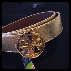 🌺2xHP🌺Classic Signature Gold Tory Burch Belt