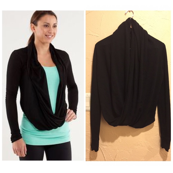 48% off lululemon athletica Tops - Lululemon 💚 Black Iconic Wrap ...